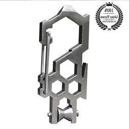 Meanhoo High EDC Carbon steel para-biner carabiner multitool