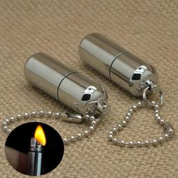Mini Emergency Gear Fire Stash Survival Lighter Camping Pock