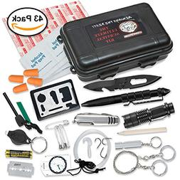 Ultimate 43-in-1 Emergency Survival Kit | Outdoor Multi-Tool