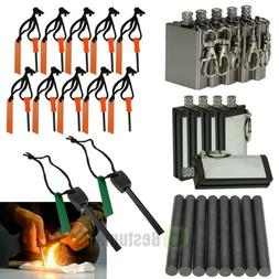emergency magnesium flint fire starter rod lighter