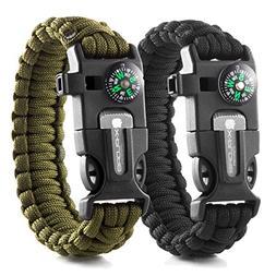 X-Plore Gear Emergency Paracord Bracelets | Set Of 2| The UL