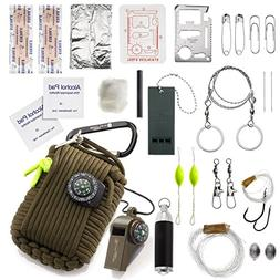 X-Plore Gear Emergency Paracord Survival Kit  by Natural Dis