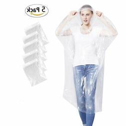 KASU Emergency Rain Ponchos, Disposable Extra Thick Rain Gea
