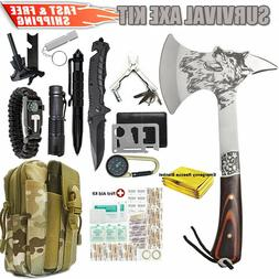 Emergency Survival Axe Hatchet First Aid Kit Outdoor Camping