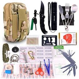 Emergency Survival Gear Kits Portable Outdoor Tool For Hikin