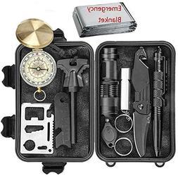Emergency Survival Handheld Flashlights Gear Kit - 11 In Too