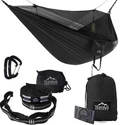 Everest Double Camping Hammock with Mosquito Net | Bug-Free