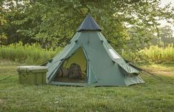 Family Teepee Tent 10'x10' 6 People Green Gear Army Surplus