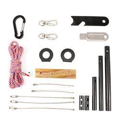 PSKOOK Fire Starter Survival Tool Ferro Rod Flint Steel Kit