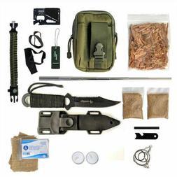 Fire Starting Survival Kit Gear Camping Fatwood Ferro Rod Bu
