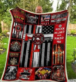 Firefighter Keep Camp And Gear Up V2 Sofa Fleece Blanket 50-