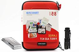 First Aid Kit Compact Survival Kit(2018 Upgraded) Emerge