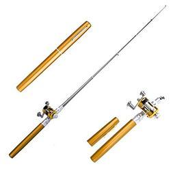 J&T Fishing Pen Rod Combo Aluminum Alloy Mini Reel & Rod Por