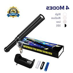 LED Flashlight High Powered, Bright Handheld Rechargeable Fl