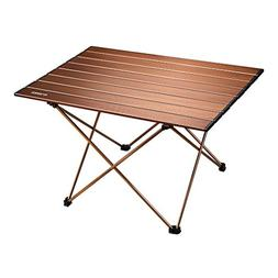 ENKEEO Foldable Camping Table Portable Lightweight Aluminum