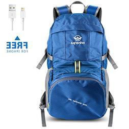 Wirarpa Foldable Durable Travel Hiking Backpack 35L Ultra Li