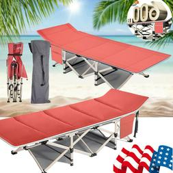 Folding Camping Cot + Carry Bag Portable Lightweight Rollawa