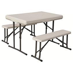 "Folding Tbl W Bench Seats Wht ""Prod. Type: Camping/Furniture"