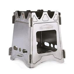 Overmont Folding Wood Stove Stainless Steel Camping Gear Bac