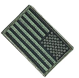 Rothco Foliage Green American Flag Patch with Hook and Loop