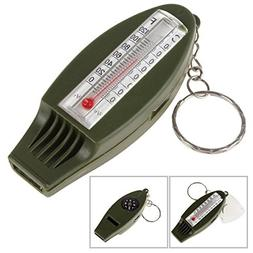 OriGlam Four Function Survival Whistle, Multifunctional Outd