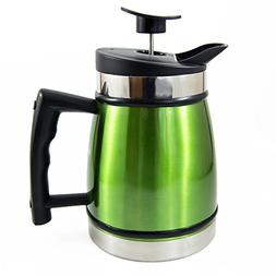 French Press Tabletop Coffee and Tea Maker with Bru Stop Tec
