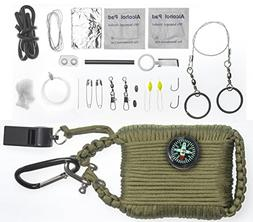 A2S Survival Gear Paracord 30pcs Emergency Kit First Aid Kit
