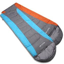 GEARUP Ultralight 50F Double Sleeping Bags For Spring Summer