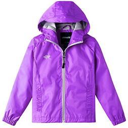 Wantdo Girl's Ultra Light Packable Rain Jacket Outdoor Windc