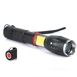 Glare COB+T6 With Two Flashlights Telescopic Focus-lamp With