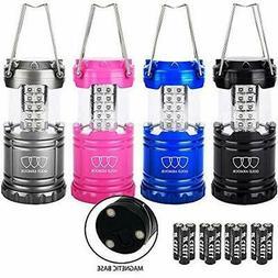 Gold Lantern Flashlights Armour 4 Pack LED Camping Lanterns