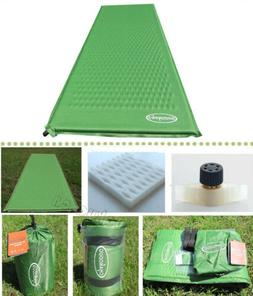 green self inflating camping mattress air bed