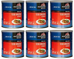 Mountain House Ground Beef #10 Can Freeze Dried Food - 6 Can