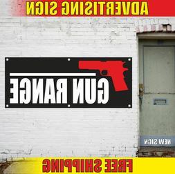 GUN RANGE Advertising Banner Vinyl Mesh Decal Sign SHOOTING