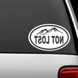H1124 Not Lost Oval Decal Sticker Tent Hiker Camper Hiking C