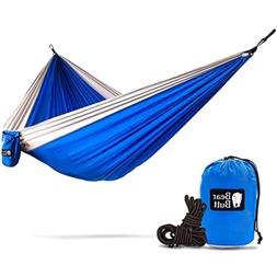 Hammock Camping Gear Double w/ Rope Straps Tree Swings Swing
