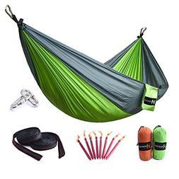 HUKOER Hammock Double Camping Hammock Portable Nylon Garden