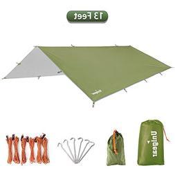 Unigear 13 Feet Hammock Rain Fly Waterproof Tent Tarp Campin