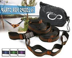 Hammock Suspension Tree Straps- Easy 16 Loops Straps – Lig