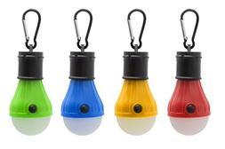 Mosion 4pc Hanging Lantern Camping Light Bulb Pack, Portable