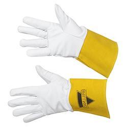 Heavy Duty Leather Welding Work Gloves For Men | Fire-Resist