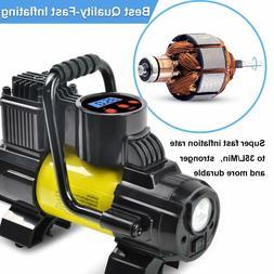 5Heavy Duty Portable Air Compressor Car Tire Inflator Electr