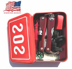 Help Camping Kit Outdoor Survival Emergency Box SOS Tools Se