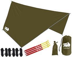 Chill Gorilla Hex Hammock Rain Fly Tent Tarp Waterproof Camp