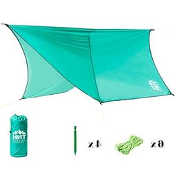 TNH Outdoors Hexagon Waterproof Rain Fly Tent Tarp with Stak