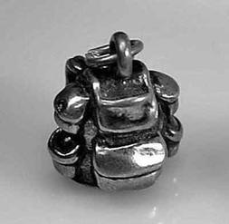 Hiking 3D Backpack equipment gear Sterling Silver 925 charm
