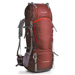 Mountaintop 80l Hiking Backpack Maroon