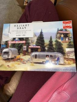 Busch HO Scale Camping Trailer Park w/ 2 Airstream Trailers