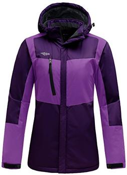Wantdo Women's Hooded Waterproof Fleece Parka Outdoor Mounta