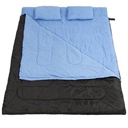 """Huge Double Sleeping Bag 23F/-5C 2 Person Camping Hiking 86"""""""